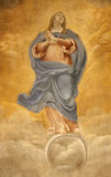 Rome - holy Mary fresco Stock Images