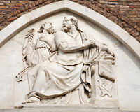 Rome - holy Matthew the Evangelist relief Royalty Free Stock Photo