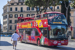 Rome hop on off Tour bus Royalty Free Stock Photos