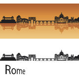 rome horisont stock illustrationer