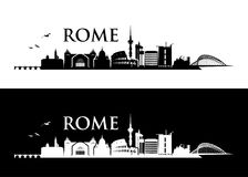 Rome horisont - Italien - vektorillustration stock illustrationer