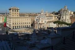 Rome horisont och kupoler av den Santa Maria di Loreto kyrkan Royaltyfria Foton