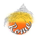 Rome horisontlopp Logo Sketch Royaltyfri Fotografi
