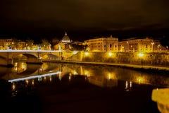 Rome i natten Arkivbild