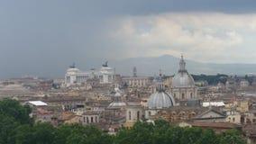 Rome i regnet Arkivbilder