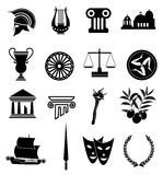 Rome icons set Stock Photo