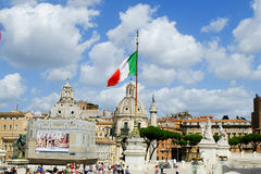 Rome imperial capital city historical monuments age Roman and Renaissance Royalty Free Stock Images