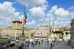 Rome imperial capital city historical monuments age Roman and Renaissance Stock Photos