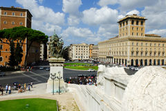 Rome imperial capital city historical monuments age Roman and Renaissance Stock Photo