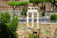 Rome imperial capital city historical monuments age Roman and Renaissance Stock Images
