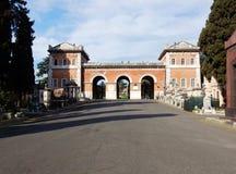 Rome - ingång av Verano Arkivbilder