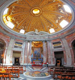 Rome interior in church saint Andrea al Quirinale Royalty Free Stock Photo