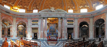 Rome interior in church saint Andrea al Quirinale Royalty Free Stock Photos