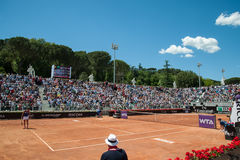 Rome, International Tennis 2014, stage of the marbles Royalty Free Stock Photos