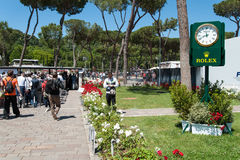 Rome, International Tennis 2014, stage of the marbles Royalty Free Stock Image