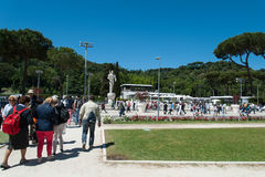 Rome, International Tennis 2014, stage of the marbles Stock Photography