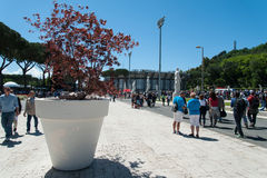 Rome, International Tennis 2014, stage of the marbles Royalty Free Stock Photo