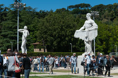 Rome, International Tennis 2014, stage of the marbles Stock Images