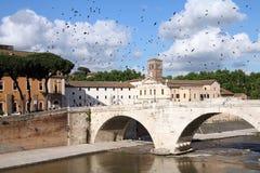 Rome - Isola Tiberina Royalty Free Stock Photo