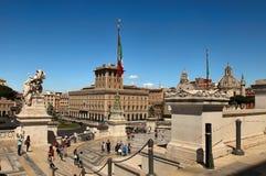 Rome, Italië - APRI 11, 2016: Vittorio Emanuele II, het museum c Royalty-vrije Stock Foto's