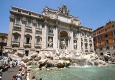 Rome, Italië: De Trevi Fontein royalty-vrije stock foto