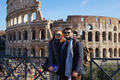 Rome, Italië - 8 December 2016: Coloseum Royalty-vrije Stock Afbeelding