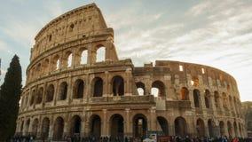Rome, Italië - Januari 5, 2019: Colosseum of Coliseum timelapse, Flavian Amphitheatre in Rome, Italië stock video