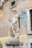 ROME, ITALIË - JANUARI 27, 2010: Standbeeld van Heilige Michael Stock Foto
