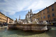 Rome, ITALIË - JUNI 01: Piazza Navona in Rome, Italië op 01 Juni, 2016 Royalty-vrije Stock Foto