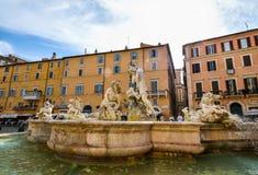 Rome, ITALIË - JUNI 01: Piazza Navona in Rome, Italië op 01 Juni, 2016 Stock Afbeeldingen