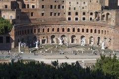 Rome Italië 18 Juni 2016 Tentoonstelling door Ugo Rondinone bij Trajan-forum royalty-vrije stock foto's