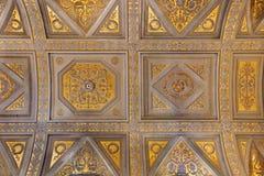 ROME, ITALIË - MAART 12, 2016: De plafondfresko van Di Santa Maria van kerkchiesa in Monserato-deglispagnoli Royalty-vrije Stock Fotografie