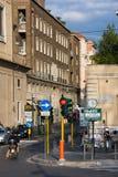 Rome, Italië - Maart 23, 2015: Verkeer op straat via DE Ripetta in Rome, Italië Royalty-vrije Stock Afbeelding