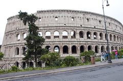 Rome, Italië - Mei 01, 2018: amphithheater coliseum in Rome, Italië de majestueuze amphithheaterbouw in wereld wereld het reize royalty-vrije stock fotografie