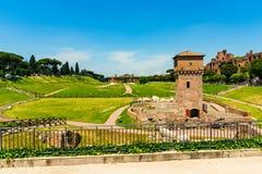 Rome, Italië - 26 Mei 2018: Circo Massimo Royalty-vrije Stock Fotografie