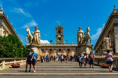 Rome, Italië - 26 Mei 2018: Forum van Cesar Stock Foto's