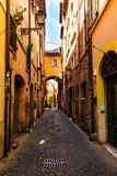 Rome, Italië - 26 Mei 2018: Oude Straat Stock Foto's