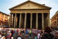 Rome, Italië - 27 Mei 2018: Pantheon Stock Foto's