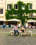 Rome, Italië - 27 Mei 2018: Piazza Navona Royalty-vrije Stock Foto