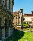 Rome, Italië - 26 Mei 2018: Theater Marcello Royalty-vrije Stock Foto's