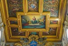 ROME, ITALIË 10 OKTOBER, 2017: Het Binnenlandse Plafond van Basi Royalty-vrije Stock Foto's