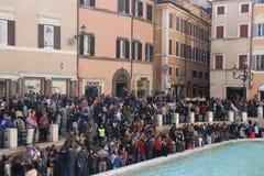 Rome, Italië - Trevi Fonteinmonument royalty-vrije stock foto