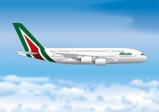 ROME, ITALIE, avril 2017 - illustration au trait passager de ligne aérienne d'Alitakia Image libre de droits