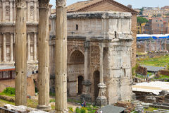 Rome, ITALIE - 1er juin : Ruines de Roman Forum à Rome, Italie le 1er juin 2016 Photos stock
