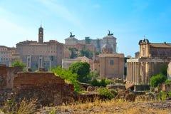 Rome, ITALIE - 1er juin : Ruines de Roman Forum à Rome, Italie le 1er juin 2016 Image stock