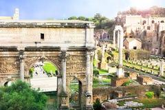Rome, Italie - forum romain, style mobile photographie stock libre de droits