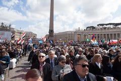 Pape Francis Inauguration Mass photographie stock libre de droits