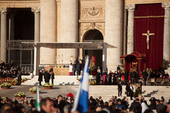 Le pape Francis Inauguration Mass images libres de droits