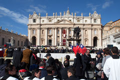 Le pape Francis Inauguration Mass photographie stock