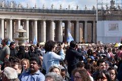 Le pape Francis Inauguration Mass photographie stock libre de droits